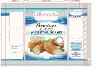 Young's Seafood bag printed by Ultimate Packaging