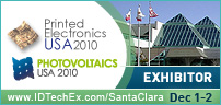 We are exhibitors at Printed Electronics USA 2010