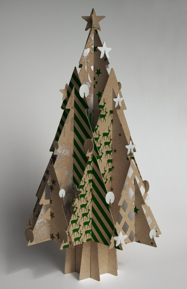 Cascades Moderno recycled-paperboard Christmas tree