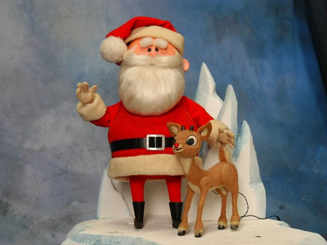 Kris Kringle and sidekick Rudolph