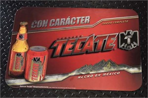FLEXcon Tecate Beer floor advertisement