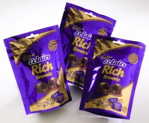 UFLEX Cadbury Rich Brownie chocolates standup pouch