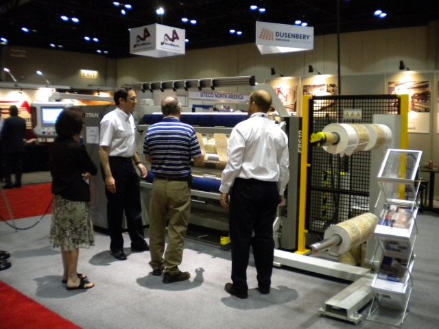 Atlas Titan ER610 slitter at ICE USA 2011