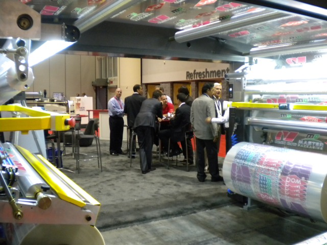 Comexi Nexus EVO solventless laminator at ICE USA 2011