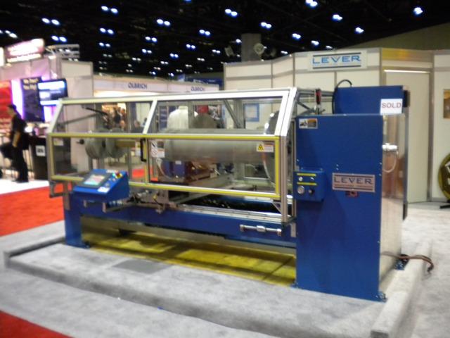 Lever Mfg. log slitter at ICE USA 2011