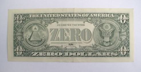 A Zero-Dollar Bill