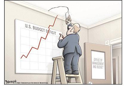 Federal budget deficit hits record