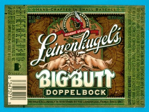 Leinenkugel's Big Butt Doppelbock beer label