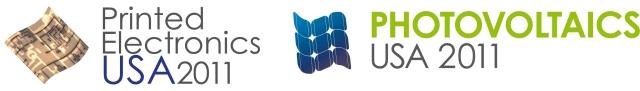 Printed Electronics USA & Photovoltaics USA 2011 logos