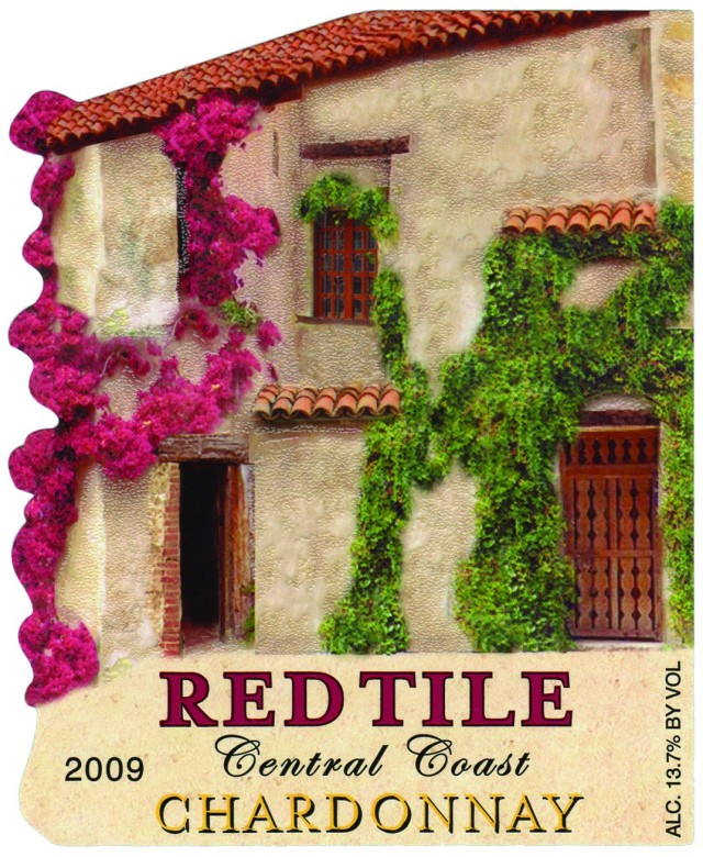 "ASL Print FX ""Red Tile"" Chardonnay wine label"