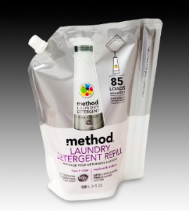 Method standup pouch with spine