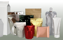 Laminated packaging waste