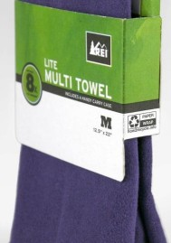REI Mutli-Towels recycing label