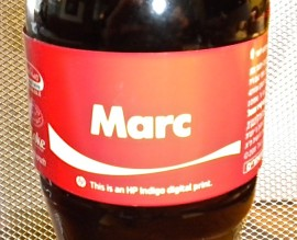 Marc on 500-ml Coca-Cola bottle
